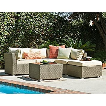 outdoor sectional sofa cover 3 piece set zenna the light brown