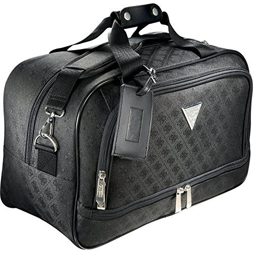 Guess Signature Travel Laptop and tablet Black Tote Bag, Guess Handbag Tote (Signature Tab)