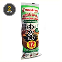 Marukome Instant Miso Soup Paste Sachets With Wakame 12x18g (24 Sachets) …