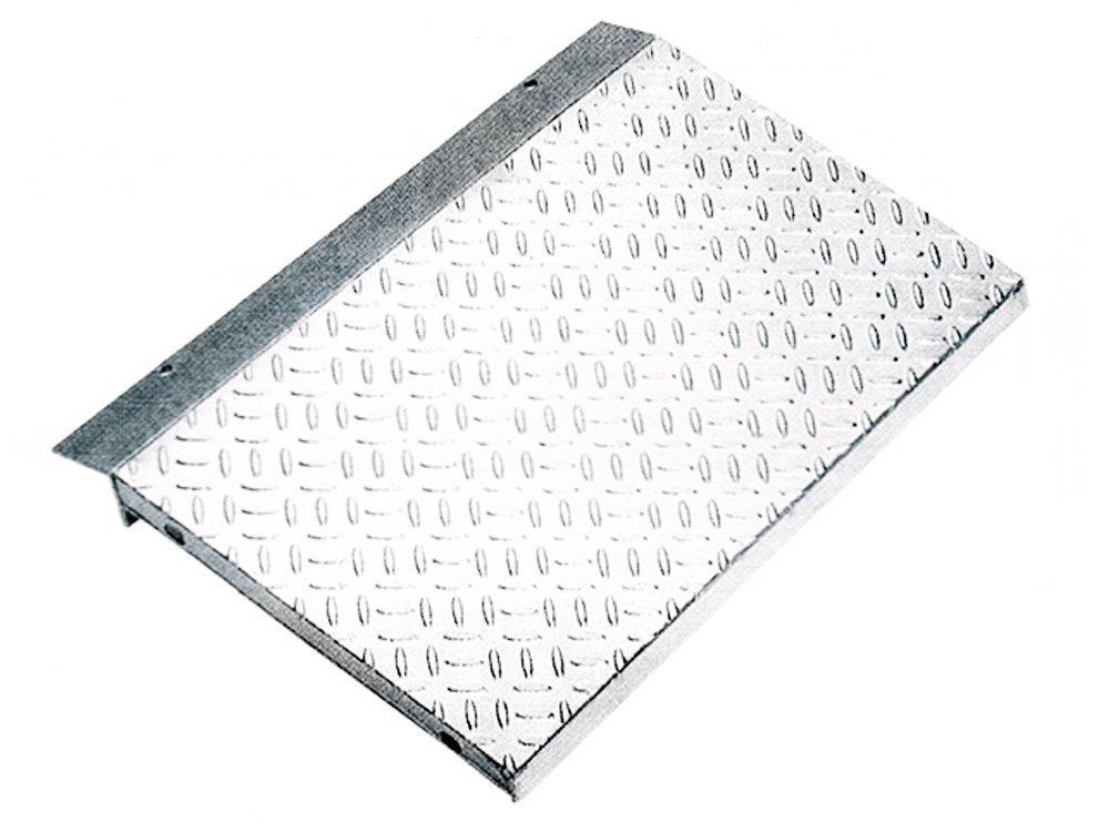 縞鋼板張り 歩道上り 段差プレート 乗用車用(2t荷重) 適用段差 100~120mm 鋼板製融解亜鉛メッキ仕上げ HLK-1200-2/HLK-600-2 長さ1200mm (長さL:1200) B01IT1LR3U 10165 長さL:1200  長さL:1200