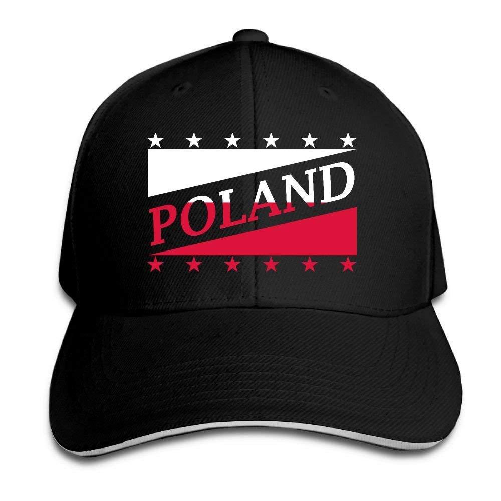 Vintage Adult Polonia Flag Coppa del Mondo di Calcio Cappello Mom Cappello Snapback Cappello Nero con Visiera Berretto Nero Unisex12
