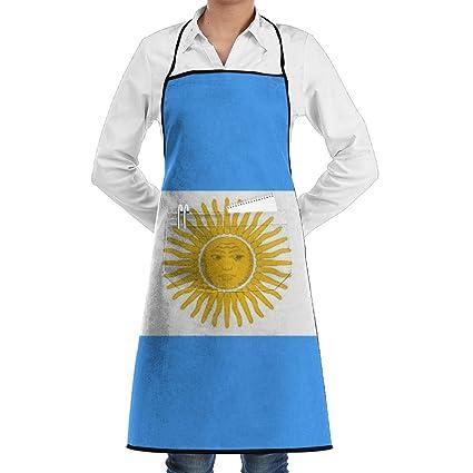 Bandera de Argentina hombres y mujeres restaurante café tienda uniformes sin mangas delantal de cocina de