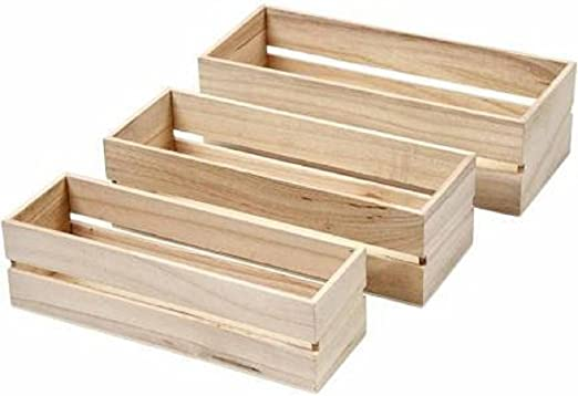 Tres pequeñas cajas nido - cajas de madera para decorar: Amazon.es ...