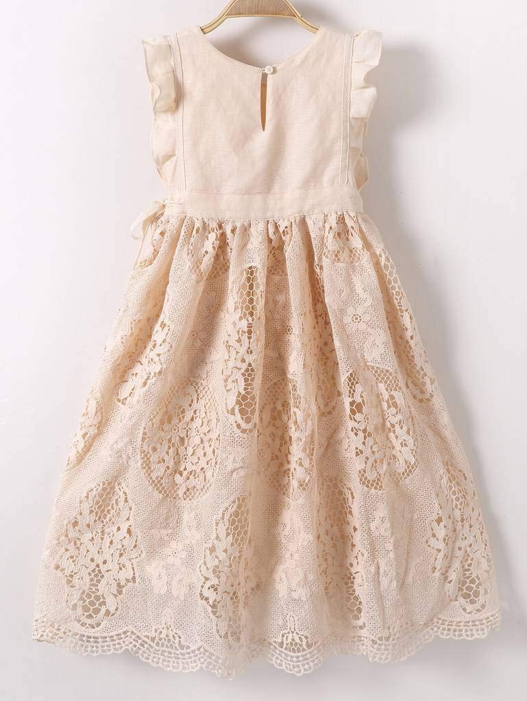 a3061a14653 Bow Dream Flower Girls Dress Vintage Lace Off White - Data Dynamic AG