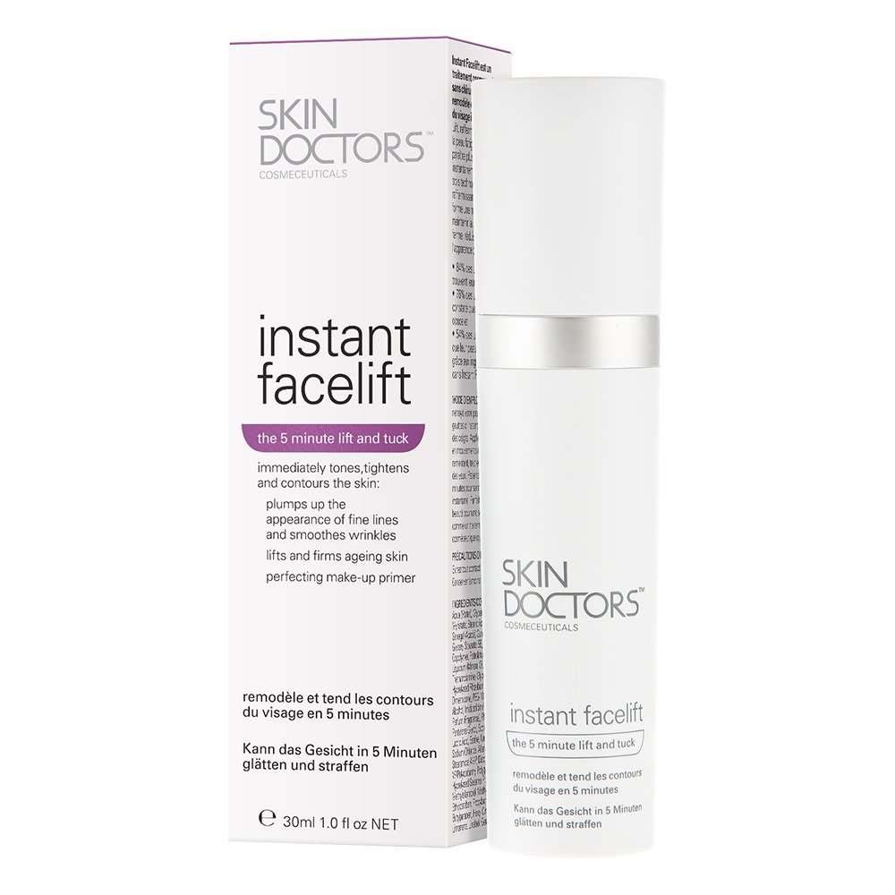 Skin Doctors Instant Facelift serum, make-up primer, instantly smoothes wrinkles, reduces fine lines, tones and lifts for younger looking skin, whilst acting as a matte primer. Works in minutes and lasts for hours. - 30ml PharmaCare Europe Ltd 952274