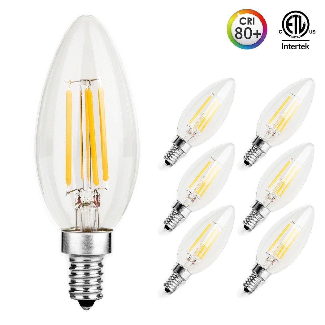 Otronics Led Candelabra Bulbs Ca10 4w 40w Equivalent Clear
