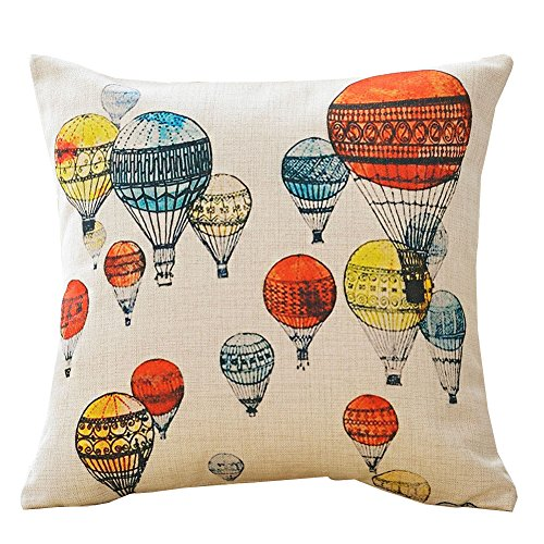 Dececos Decorative Cotton Linen Blend Throw Pillow Cover