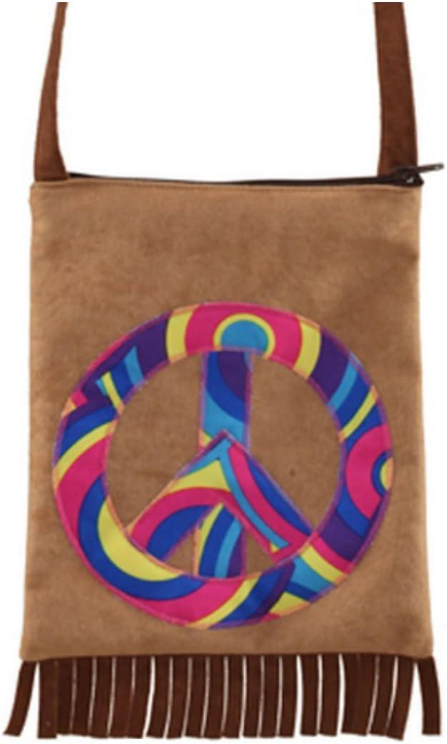 70er Jahre Damentasche Hippie Tasche Peace Fransentasche Flower Power Handtasche