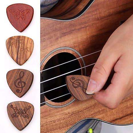 4 piezas de 4 guitarras de madera maciza de estilo para guitarra ...
