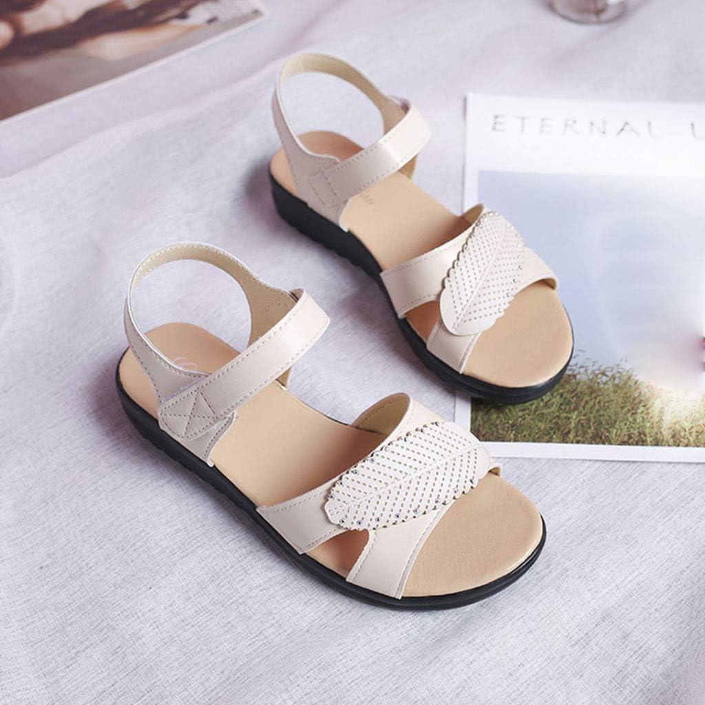 XLnuln Womens Fashion Sandals Retro Sandals Casual Flat Bottomed Sport Sandals Non-Slip Beach Shoes