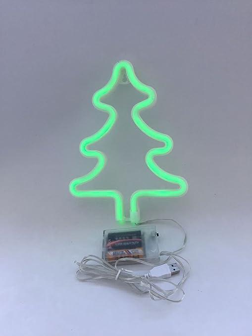 Christmas Tree Neon Signs LED Decor Light Wall Decor for Christmas ...
