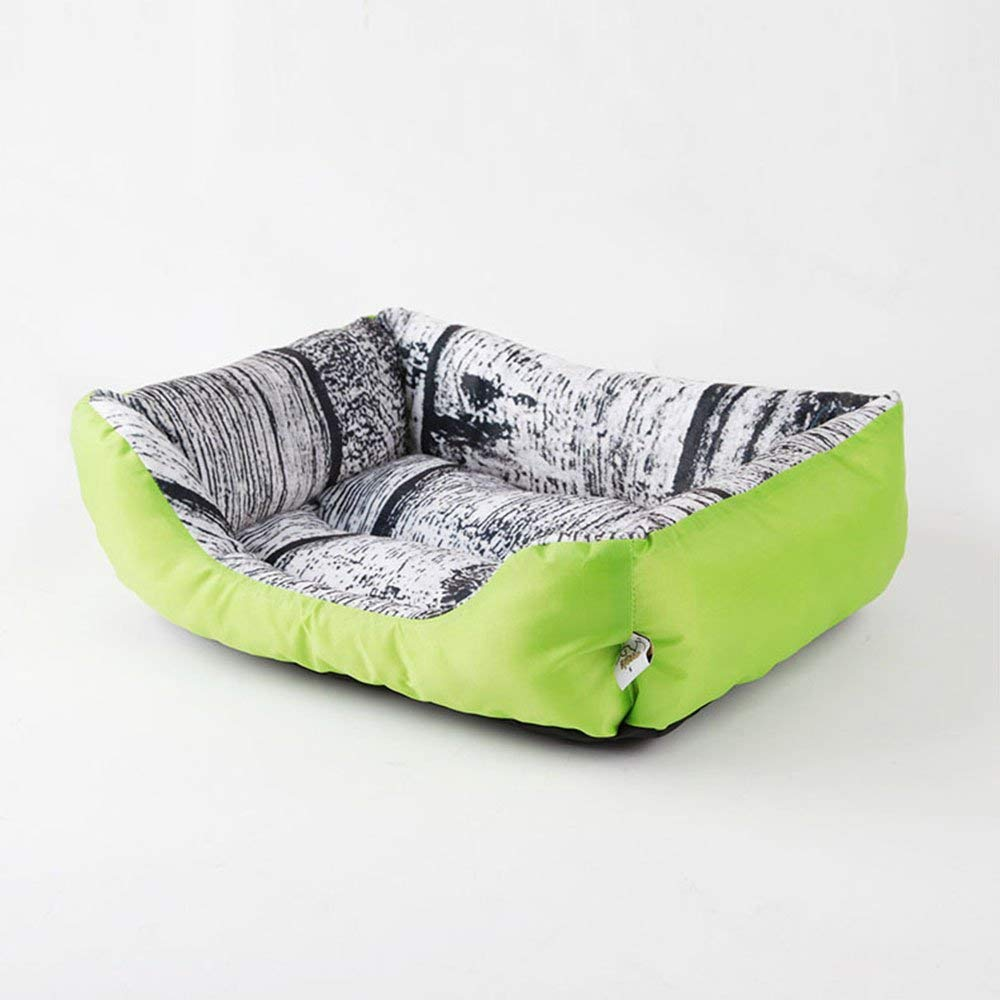 1 Medium 1 Medium Pet Bed Pet Bed Dog Beds Cat Beds Washable with Removable Mattress Fleece Plush Cushion Kennel Pets Nest Basket (color   1, Size   Medium)