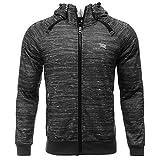 AIRAVATA Men's Hoodie Jacket Slim Fit Zip Up Raglan Sleeve Fitness Sportwear Sweatshirt, Grey, Medium