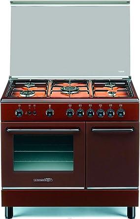 cocina A Gas con Horno de gas Ventilado con grill 90 x 60 cm ...
