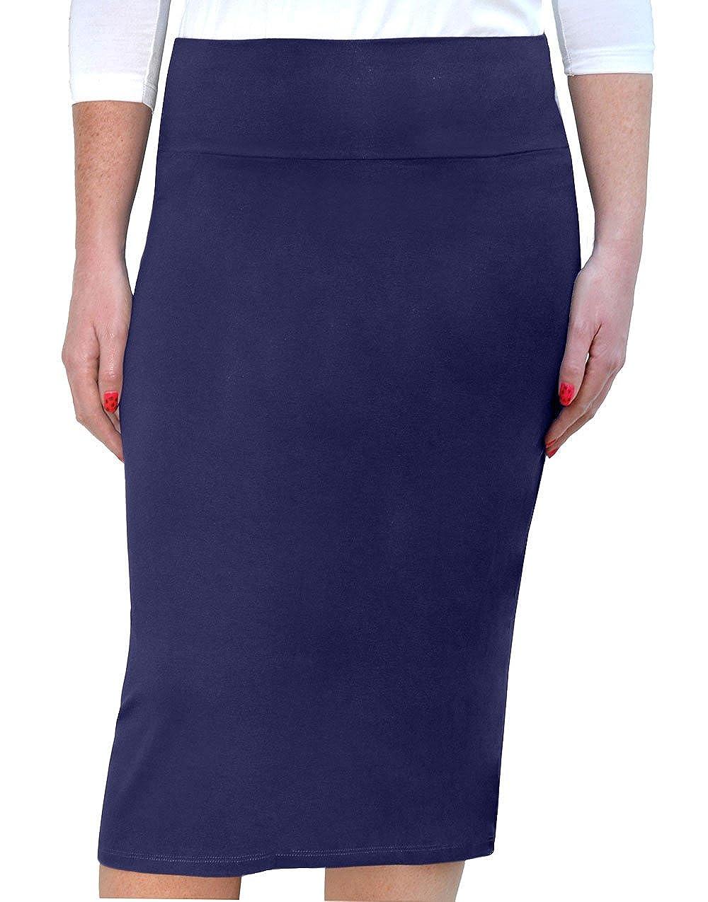 a8ac603a31 Amazon.com: Kosher Casual Kids Big Girls' Knee Length Ultra Lightweight Stretchy  Pencil Skirt: Clothing