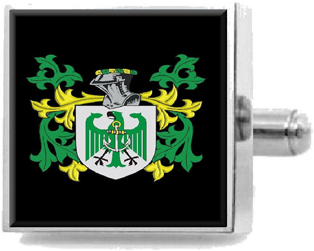 Select Gifts Wakelyn England Family Crest Surname Coat Of Arms Cufflinks Personalised Case