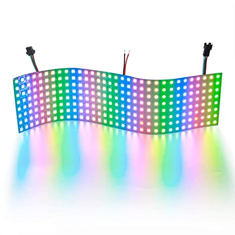 ALITOVE WS2812B Addressable LED Pixel Matrix Panel Light 832 256 Pixels  Programmable Dream Color Digital 5050 RGB LED Display Screen DC5V  Compatible