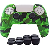 PS5 controller ROCK POW silicone cover PS5 DualSense controller grip, non-slip cover PS5 controller-1 x skin with 8 x…