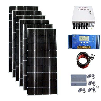 ECO-WORTHY 900 Watt 24 Volt Solar Panel Off Grid RV Boat Kit with 60A on