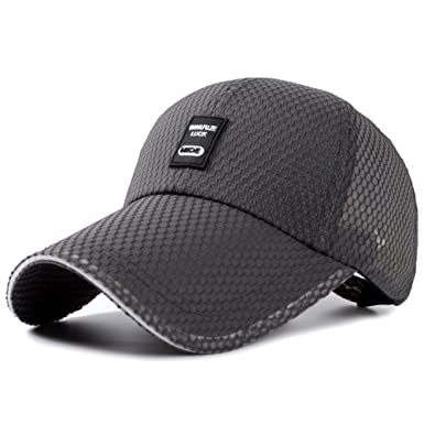 7b4f5716e8a Hat Men s summer baseball caps Mesh Cap Middle-aged fashion sun visor