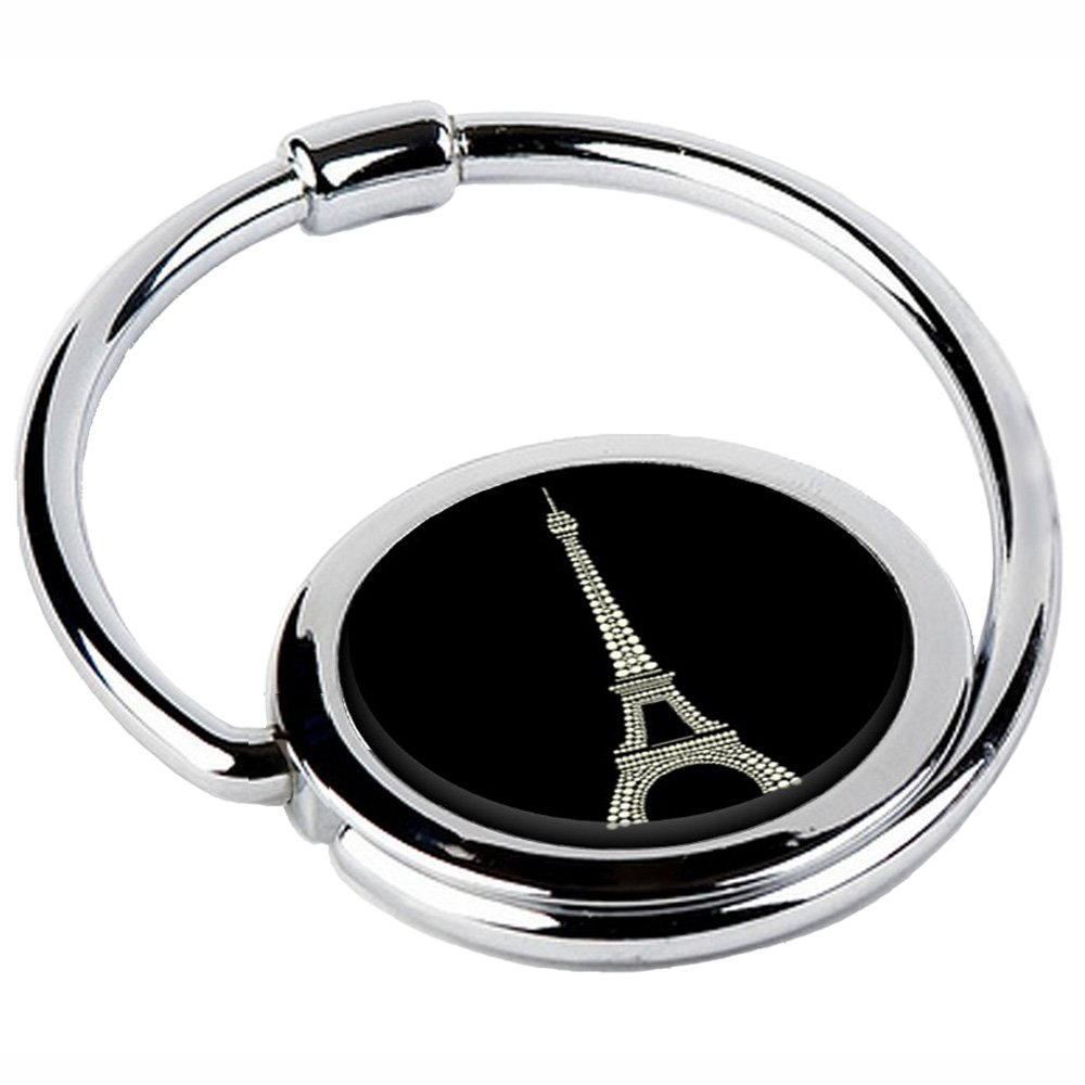 Miss Kha - Accroche Sac Pliable Tour Eiffel Noire CIRCLE-29