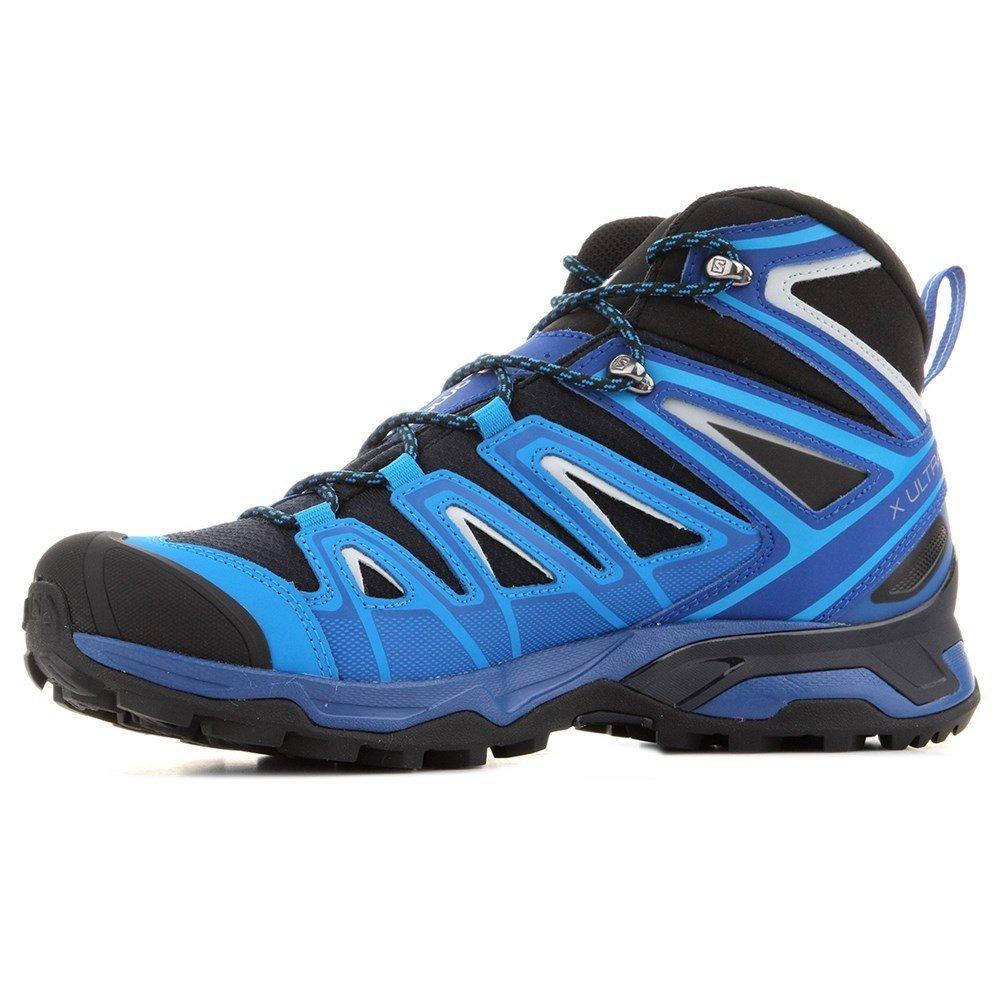 Salomon Mens X Ultra Mid 3 Gtx Trail Sneaker,Navy Blazer/Indigo Bunting/Pearl Blue, 10.5 D(M) US by Salomon (Image #4)