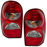 Driver and Passenger Taillights Tail Lamps Replacement for Jeep SUV 55157061AC 55157060AD AutoAndArt