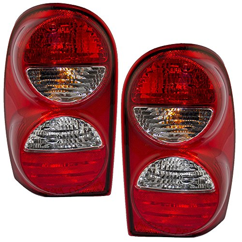 Driver and Passenger Taillights Tail Lamps Replacement for Jeep SUV 55157061AC 55157060AD -