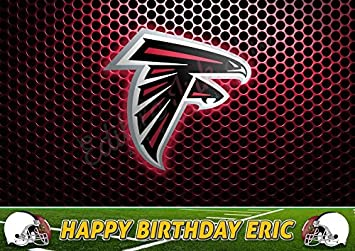 Atlanta Falcons NFL Edible Cake Topper Personalized Birthday 1 4 Sheet Decoration Custom Party