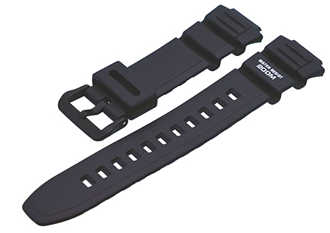 Casio Correa de Reloj Resin Band negro AE-2000W WV-200: Amazon.es: Relojes