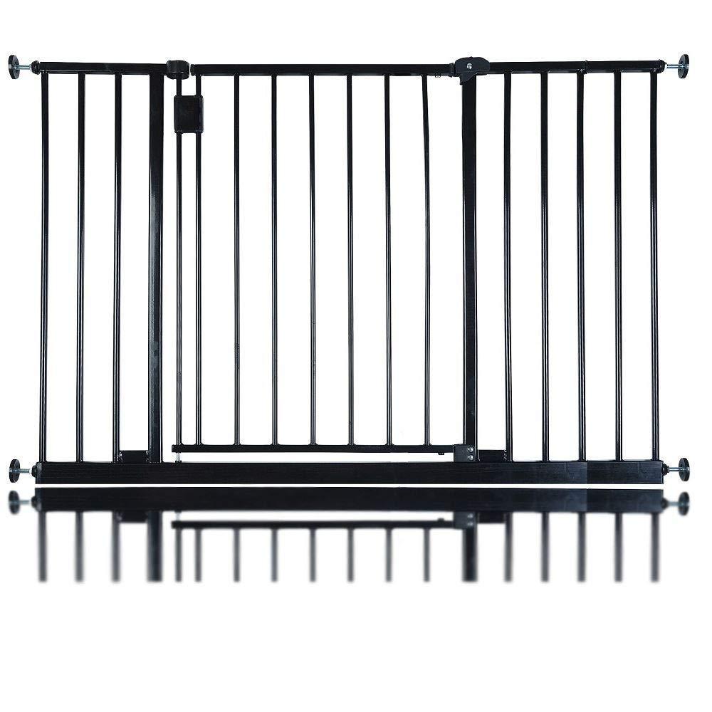 Black 109.4cm 115.4cm Black 109.4cm 115.4cm Bettacare Extra Wide Hallway Pet Gate Black 109.4cm 115.4cm