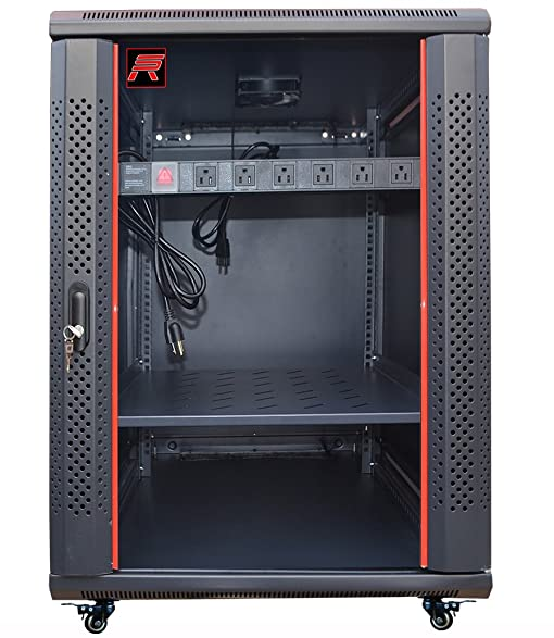 18U 24in Depth Wall Mount Server Rack Cabinet (24u0026quot;w X24u0026quot;d X35u0026quot