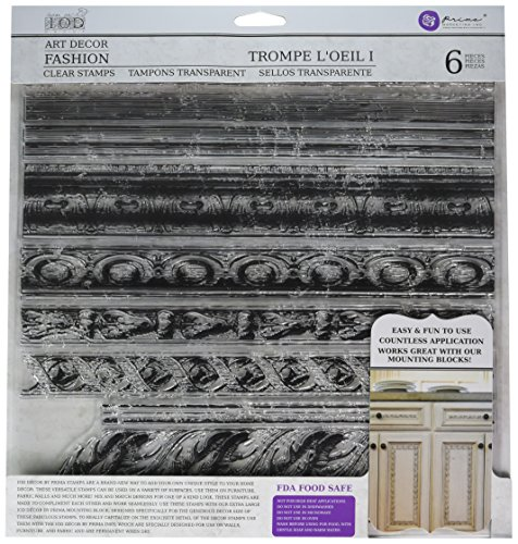 Prima Marketing Iron Orchid Designs Decor Clear Stamps-Trompel Feet Oeil 1, 12