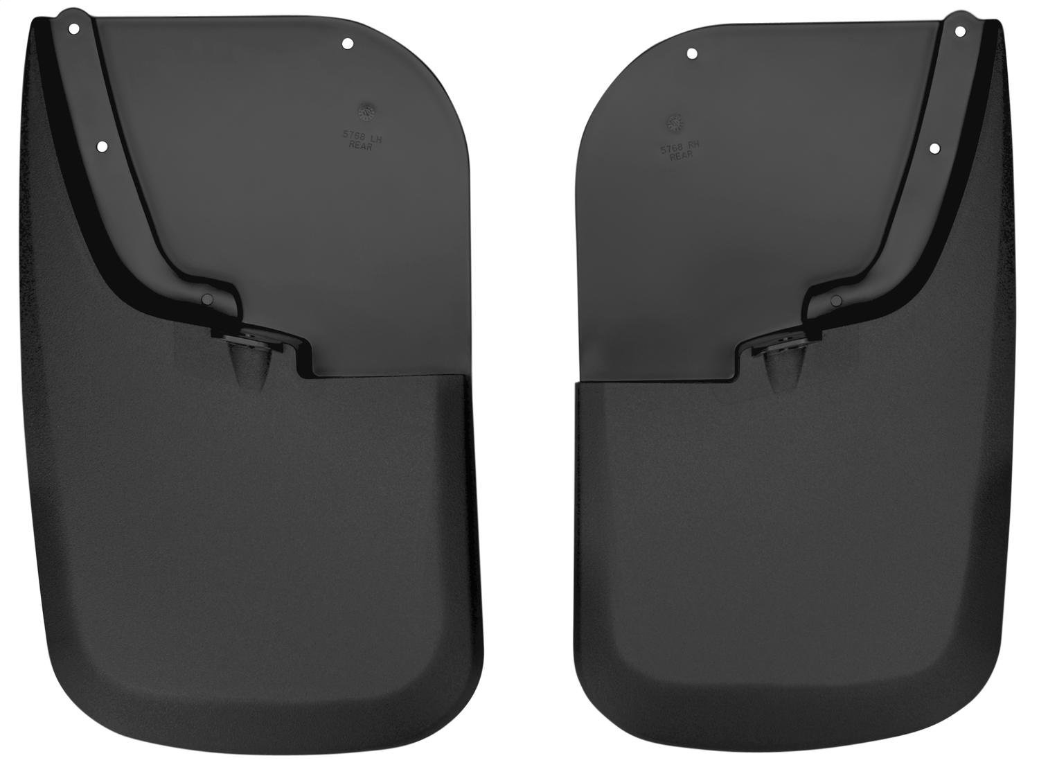 Husky Liners Custom Fit Molded Rear Mudguard for Select Ford F-250 /F-350 Models - Pack of 2 (Black) Winfield Consumer Products 57681
