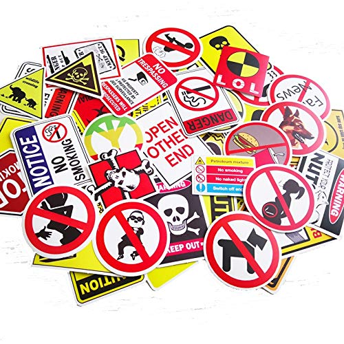 50 Pcs/Pack Do Not Repeat Warning Theme Cross-Border Stickers Car Computer Car Bicycle Waterproof Decorative Sticker