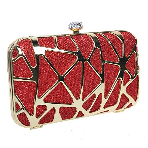 Evening for Cube Special Water Purses Box Red Clutches Bonjanvye Girls p1IqnOgx