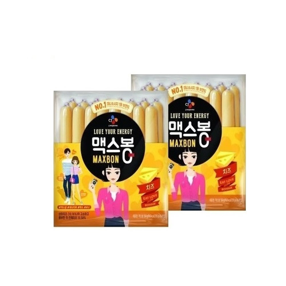 CJ Maxbon Cheese Sausage snack 560g / instant food / instant snack / Korean food (2pack)