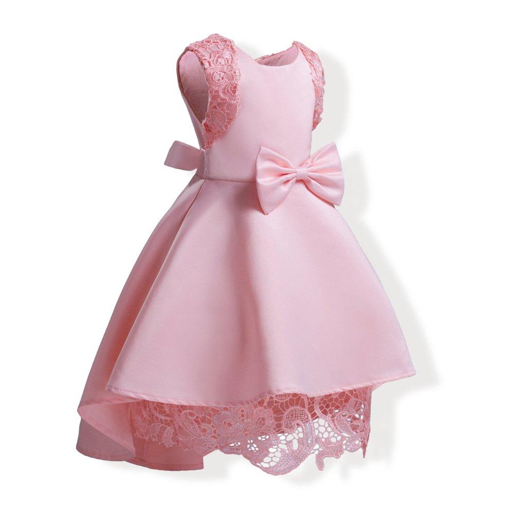 Mrsrui Little Girl Dress Kids Ruffles Lace Party Wedding Dresses Birthday Gift (100#, Red) by Mrsrui (Image #2)