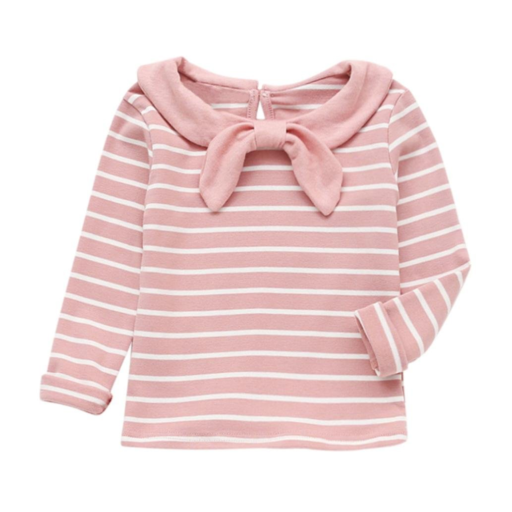 Wesracia Baby Girls Clothes Long Sleeve Striped T-Shirt Tops Clothes Baby Clothes Girls Clothes