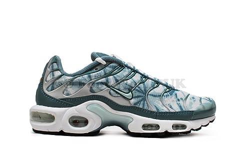 new styles 7c3d8 7263b Nike Air MAX Plus de la Mujer del Hombre - NIKE Tuned - 1 Metro fibergrass  Waterway, Color Blanco, Talla 43,5 Amazon.es Zapatos y complementos