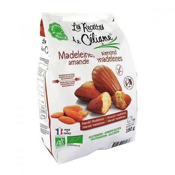 Bolleria Les Recettes De Celiane Magdalenas Almendra Bio S/Gluten Y S/Leche Bolsa 180
