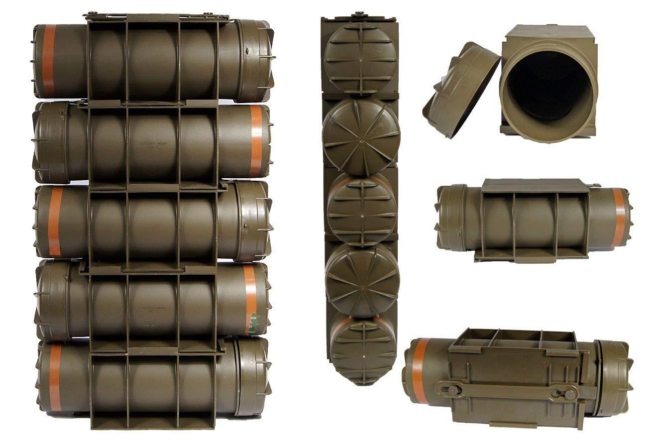 5 Stü ck Armee Munitionskiste Kunststoff M83BG oliv 44 x 15, 5 x 16 Kunststoffkiste Munikiste Unbekannt