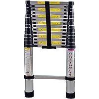 SAILUN® Échelle télescopique Échelle Extensible en Aluminium de Haute Qualité Échelle Télescopique Échelle Polyvalente, 15 Échelons - 94cm à 4,40m Échelle de pose, Capacité de Charge 150 kg (4,4 m)