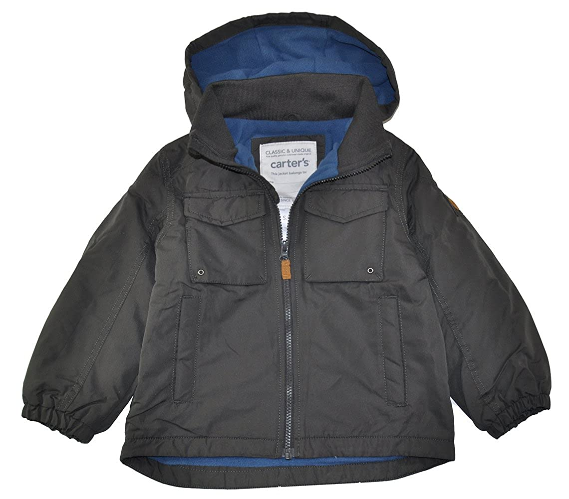 Amazon.com  Carter s Little Boys  Dark Grey Perfect Mid-Weight Fleece Lined  Jacket (4)  Clothing a87a44947