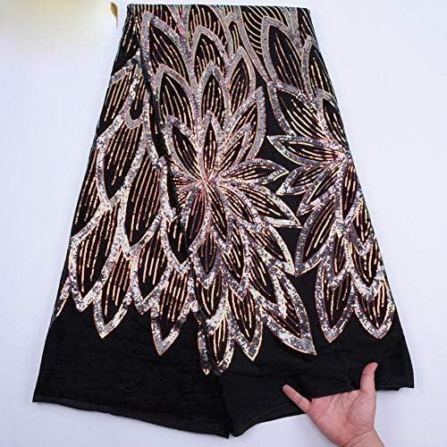 Tela de encaje de terciopelo africano de alta calidad con lentejuelas Ghana, tejido de encaje elástico de terciopelo para vestido de noche de Nigeria China rosa: Amazon.es: Hogar
