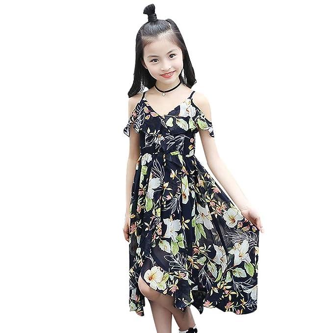 cheap for discount 9e827 5a500 Darringls Bambina Vestito, Abito Donna Estate Casual Vestiti ...