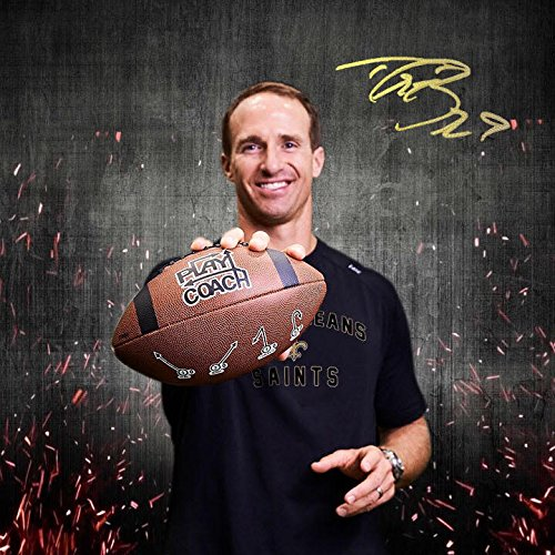 PlayCoach Youth Football (Endorsed by Drew Brees) (Brown, Peewee) - Composite Leather Wee Football Pee