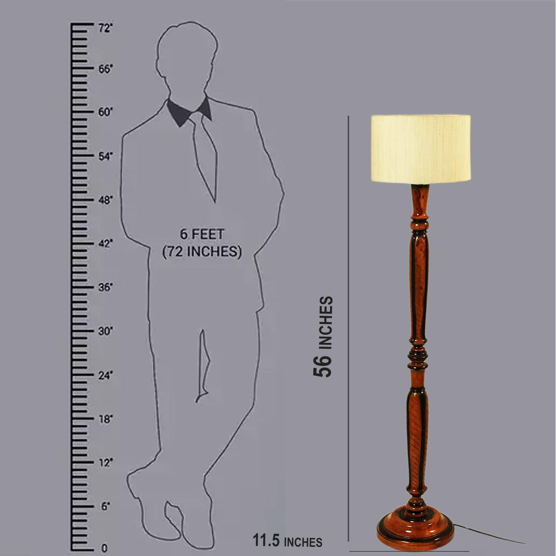 Buy Beverly Studio 12 Inches 56 High Drum Wooden Floor Lamp