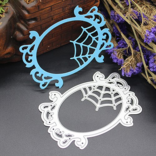 Cutting Dies,Yezike Happy Halloween Small Elephant Ghost Cut Metal Scrapbooking Stencils Nesting Die for DIY Embossing Photo Album Decorative DIY Paper Cards Making Craft Gifts (M) -
