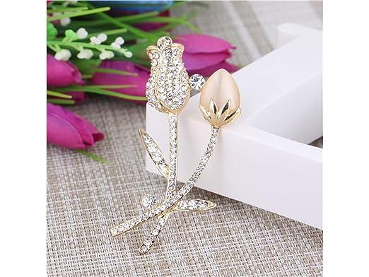 Diamond Flower Brooch Diamond Pin Ramillete de Boda para ...